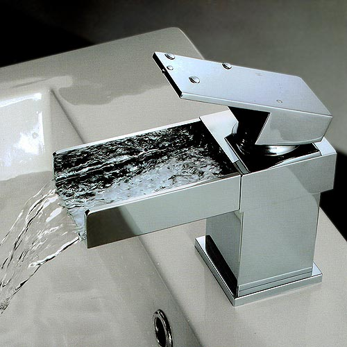 Arian Square Waterfall Mini Basin Mixer Tap